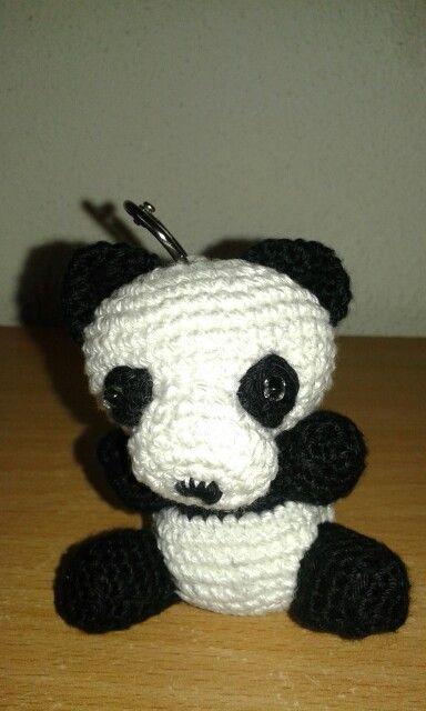 Gehaakte Sleutelhanger Panda Beertje Haken Gebreid Haken En Borden