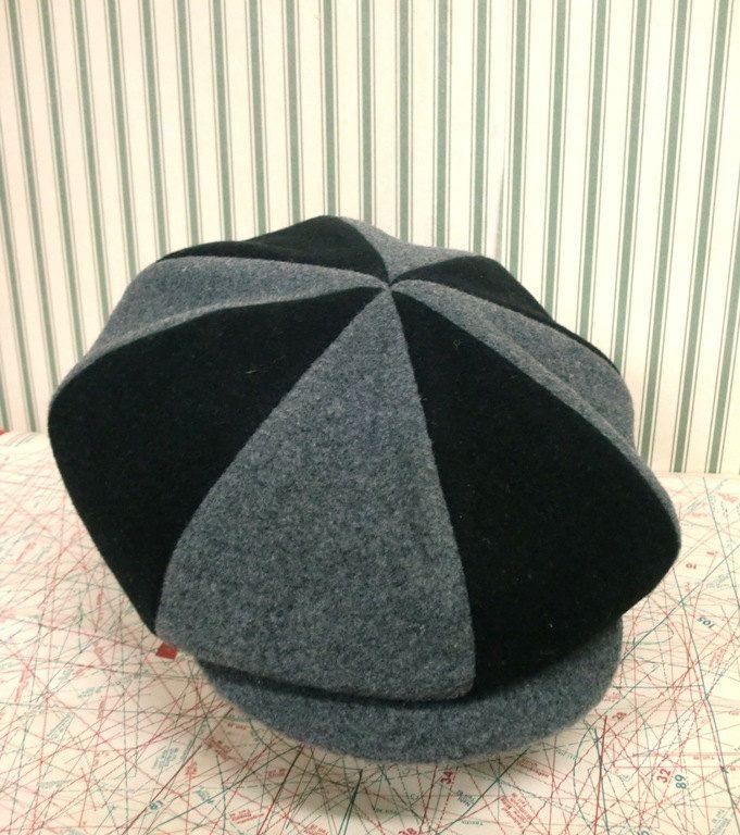 Gatsby newsboy six piece unisex  multicolor woolen fabric  flat cap. $40.00, via Etsy.