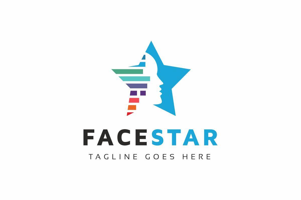 Face Star 76659 Logo Templates Star Logo Logos
