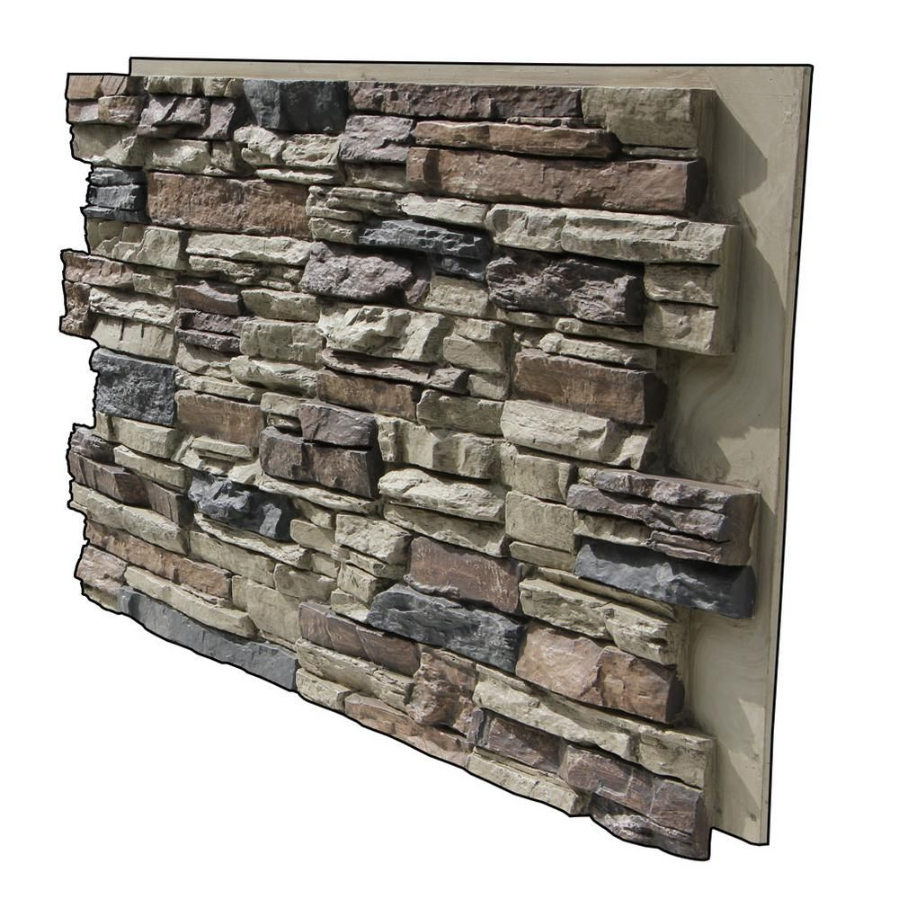 Superior Building Supplies Faux Grand Heritage 24 In X 48 In X 1 1 4 In Stack Stone Panel Rustic In 2020 Stacked Stone Panels Faux Stone Siding Stone Siding Panels