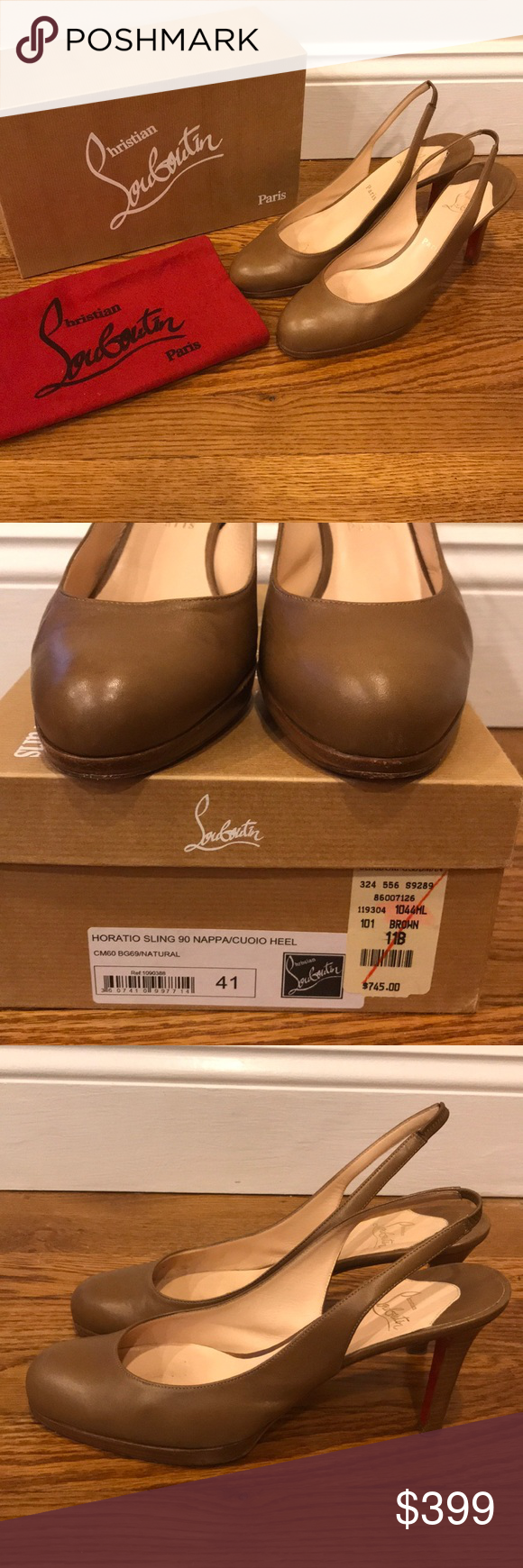 04914bf5ebd Christian Louboutin Horatio Sling 90 Leather Heels All of my items are 100%  authentic.
