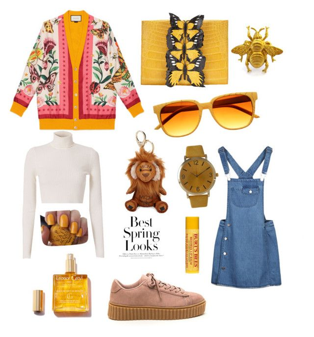 """BOHO/CHIC 2"" by chitababy on Polyvore featuring Gucci, A.L.C., Nancy Gonzalez, MCM, Olivia Pratt, OPI, Burt's Bees and H&M"
