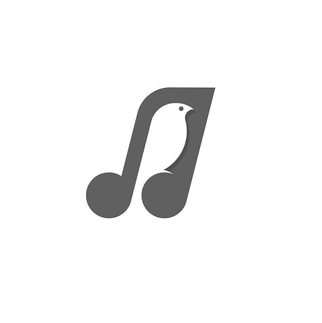 Bird + music   logo design