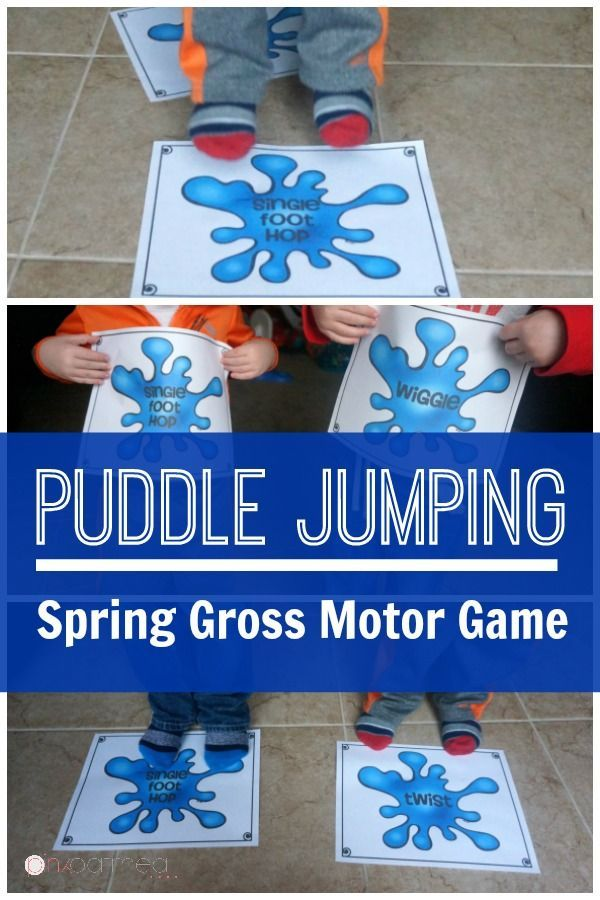 Spring gross motor game puddle jumping kids moves for Gross motor games for preschoolers