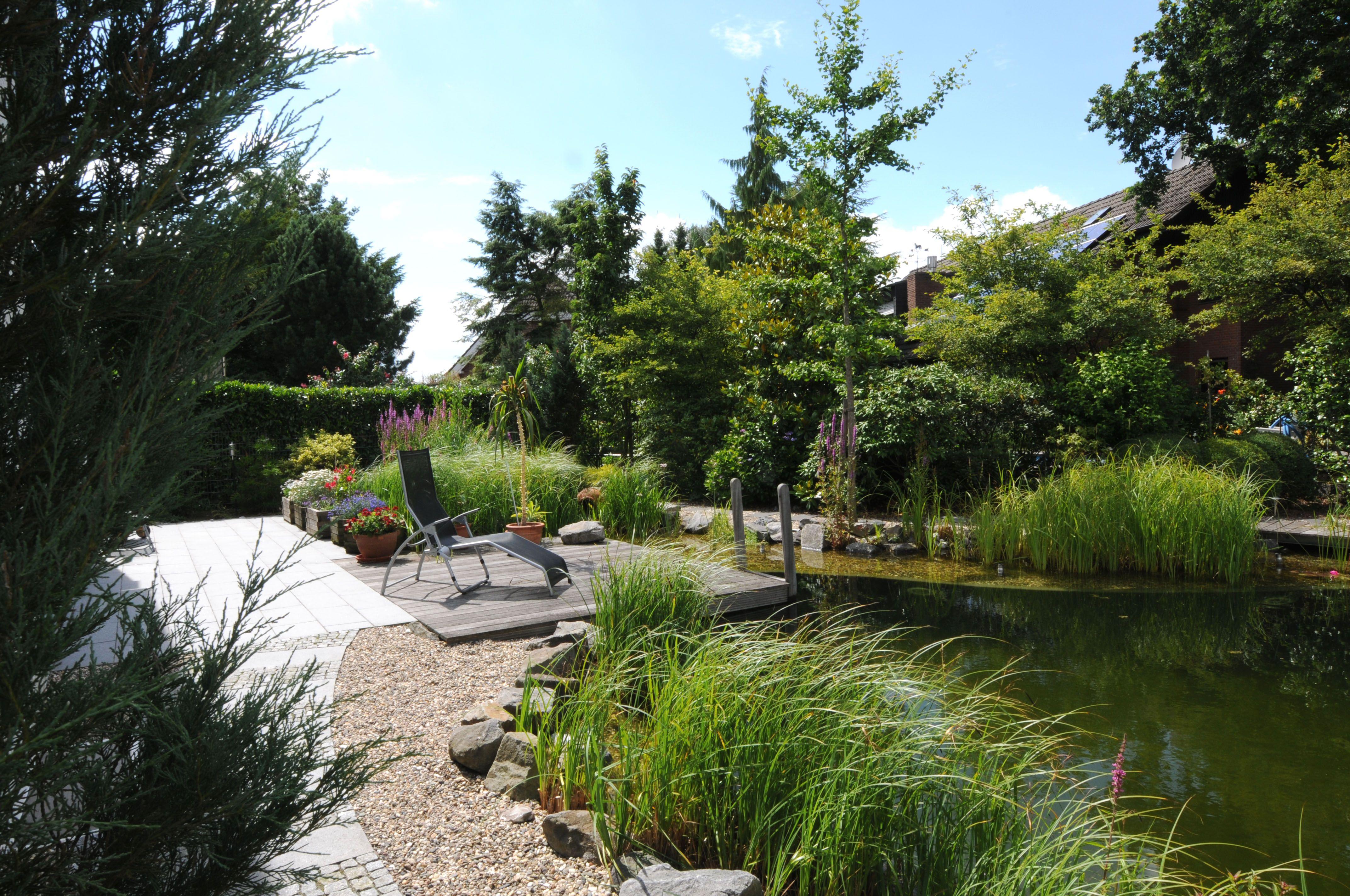 Garten Mit Schwimmteich Garten Landschaftsbau Garten Zaun Garten