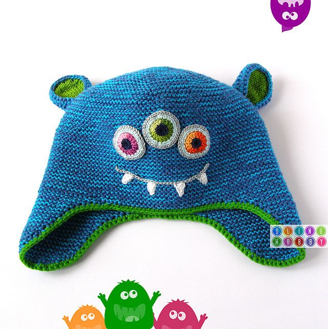awesome monster hat by OlinoHobby | Crochet Ropa Niños | Pinterest ...