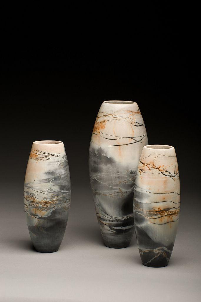 Saggar Fired Pots Contemporary Ceramics Ceramic Pottery Pottery