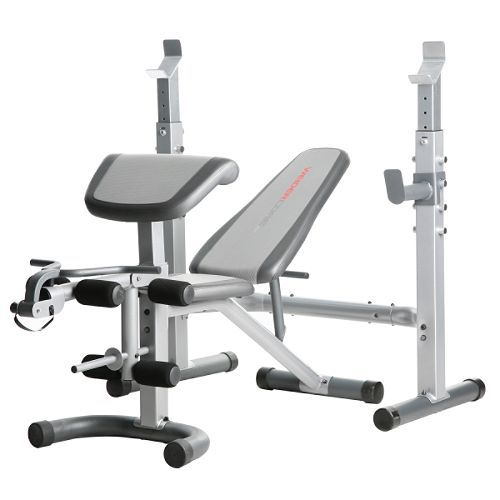 Body Solid Pro Multi Squat Rack With Fid Bench And 300 Lb: Weider Core 600 Weight Bench. Bench Pulls Away And Rack