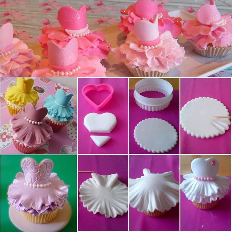 Cupcake Decorating Ideas Step By Step : How to Make Cute Ballerina Cupcakes DIY Ideas Ballerina ...