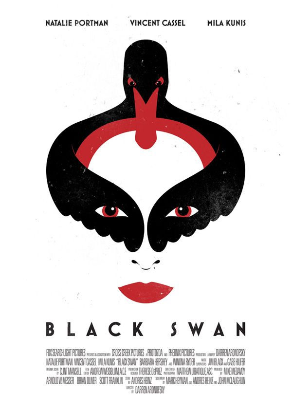 Mila Kunis Natalie Portman Black Swan Minimalist Movie Poster Vincent Casse