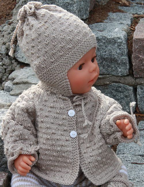 campera y gorro | Free baby knitting patterns | free knitting ...
