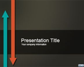 free #ppt #template with arrow up and down in the