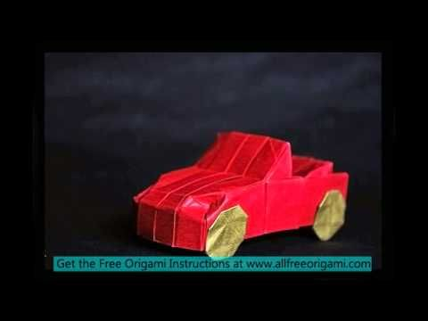 Origami Car Instructions Origami Folding Paper Pinterest