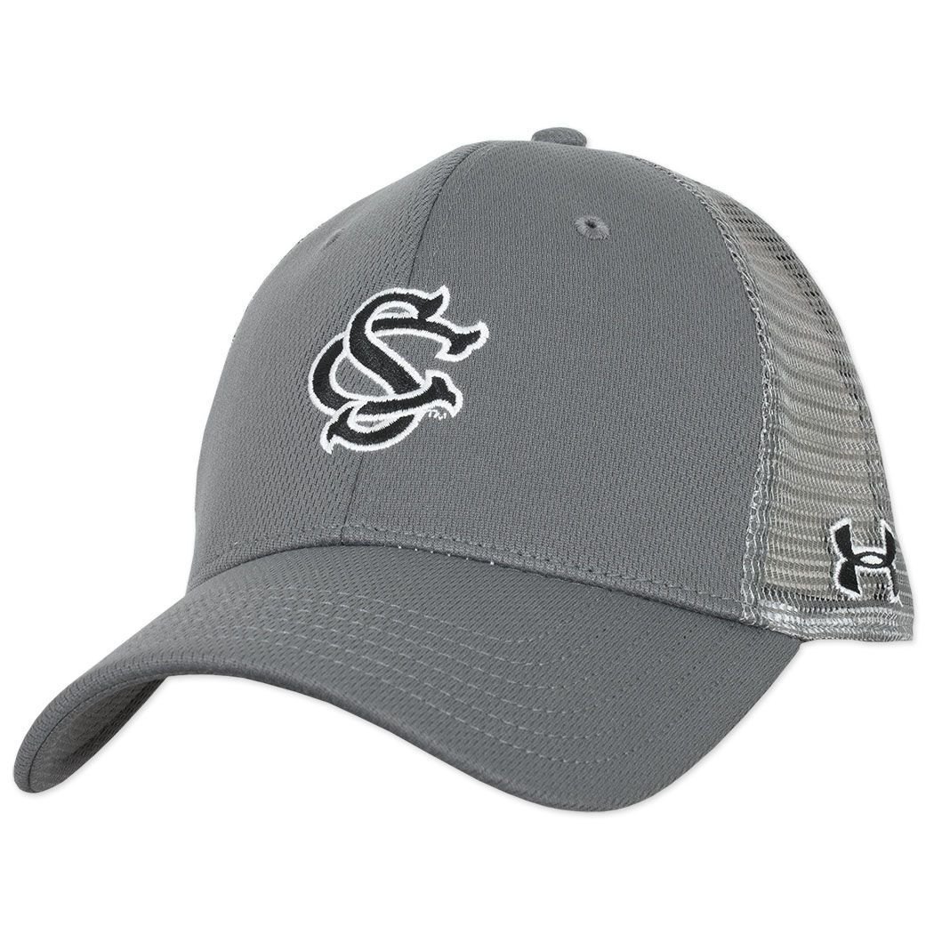 a81b9b5aba6 South Carolina Gamecocks Under Armour Baseball Mesh Hat - Gray ...