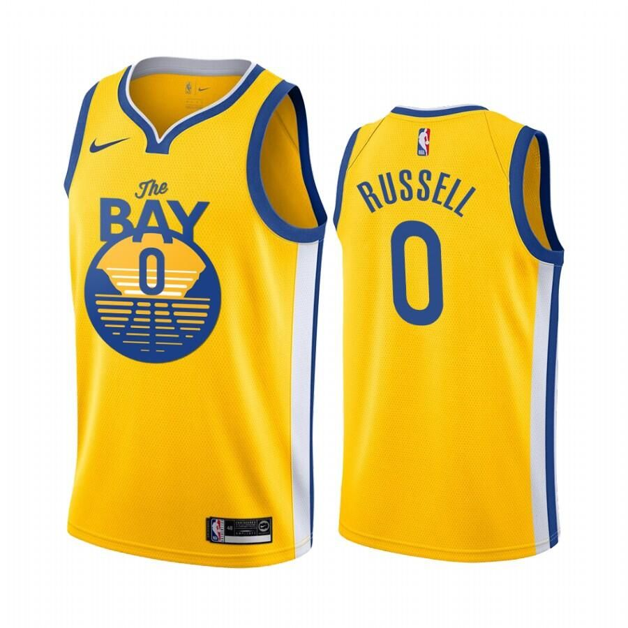 Men S Youth Golden State Warriors D Angelo Russell Yellow 2019 20 City Edition Jersey Golden State Warriors Golden State Jersey