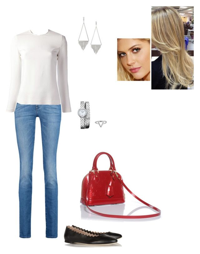 """Untitled #5227"" by gracebeckett on Polyvore featuring moda, 7 For All Mankind, Chloé, STELLA McCARTNEY, Baume & Mercier, Yves Saint Laurent, ChloBo e Louis Vuitton"
