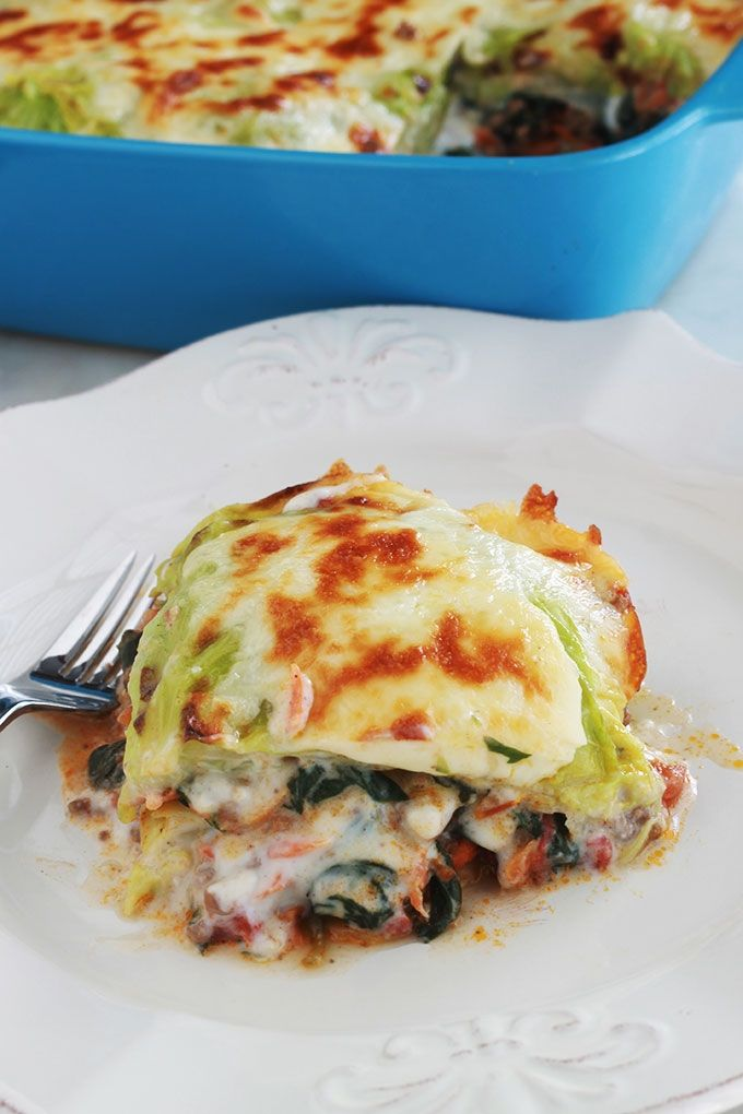 Photo of Cabbage and spinach lasagna (gluten-free)