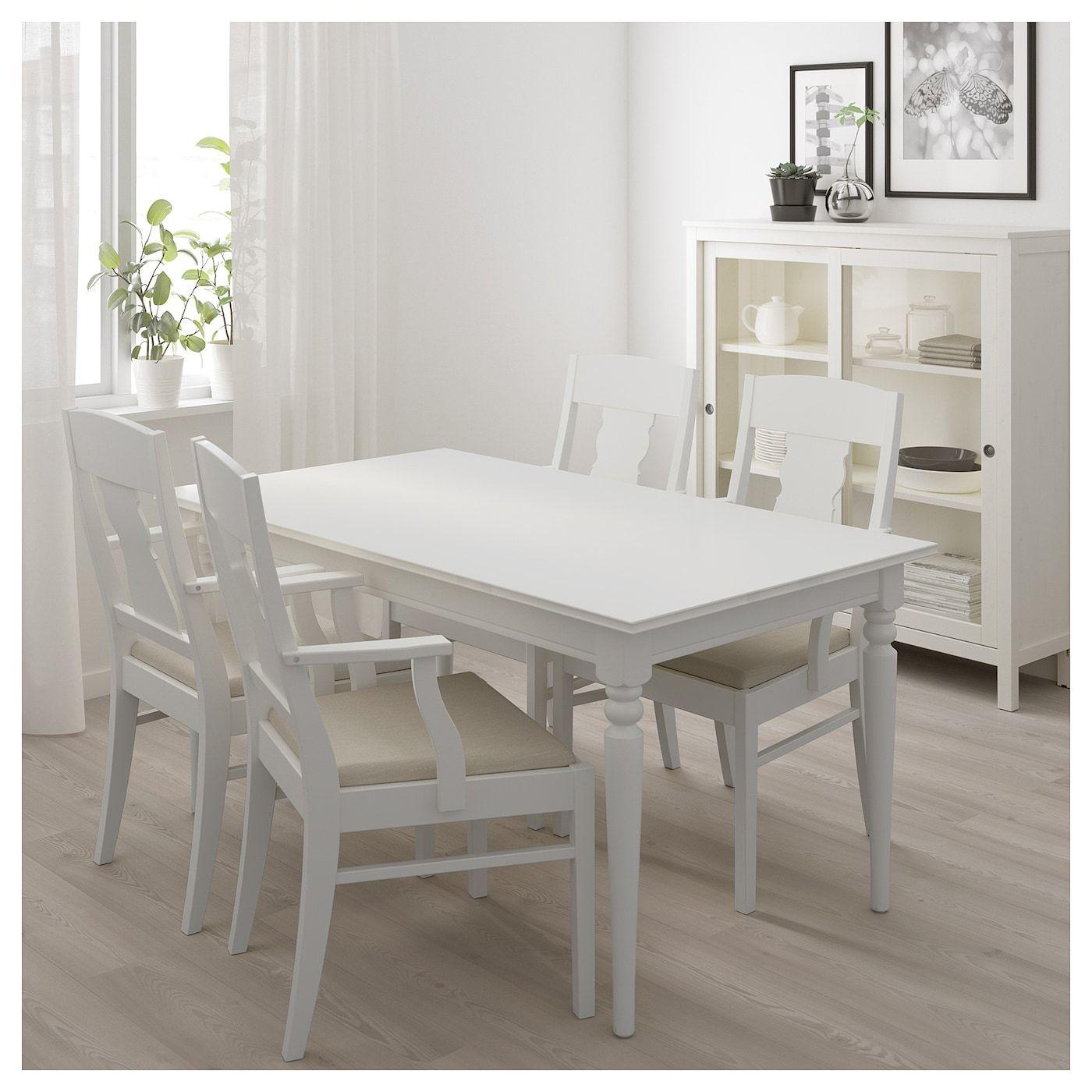 Ingatorp Tisch Und 4 Stuhle Weiss Products In 2019 Weisse
