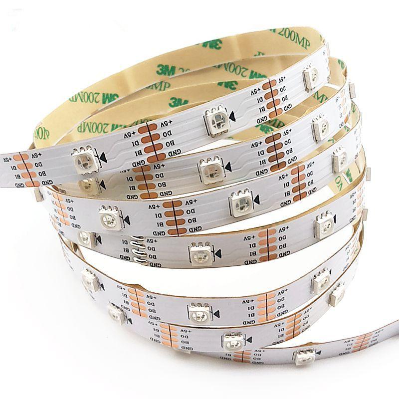 5m/roll WS2813 Smart led pixel strip,Black/White PCB,30/60 leds/m ...