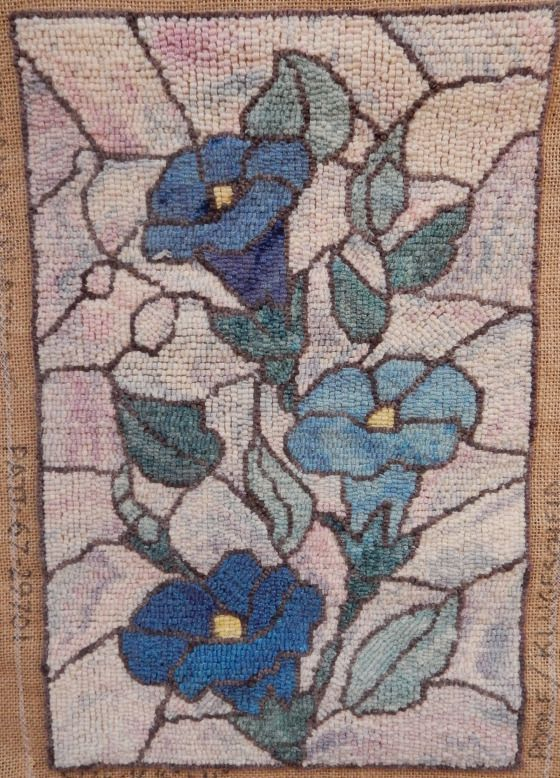 Stained Gl Technique Rug Hooking