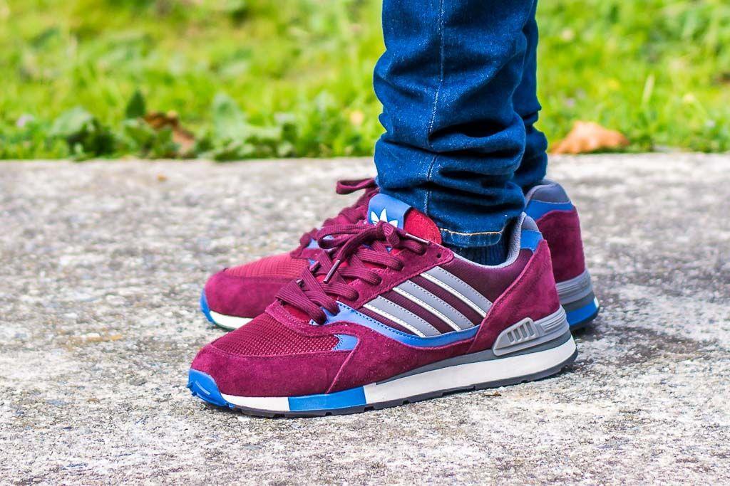 15de618ff3 Adidas Quesence Maroon On Foot Sneaker Review | Sneakers | Adidas ...