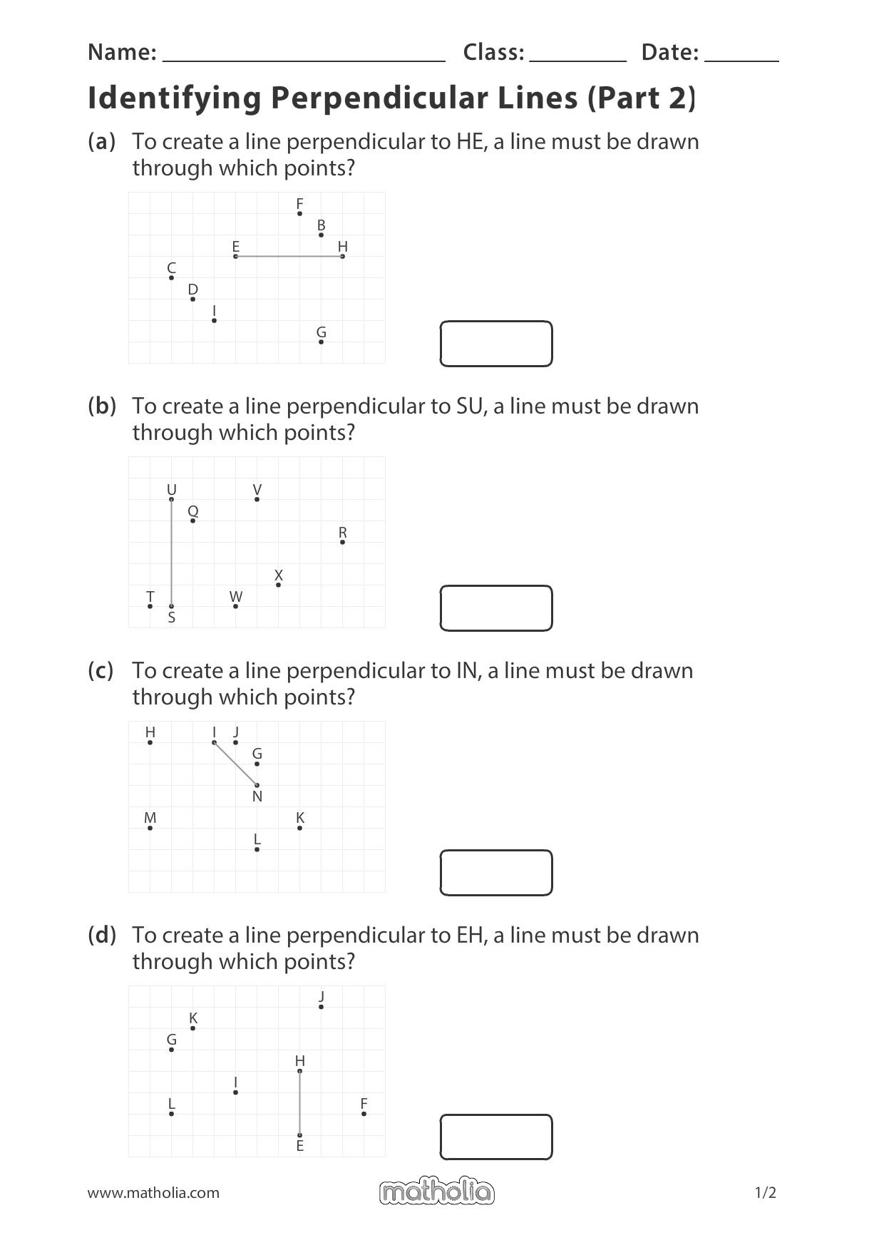 Identifying Perpendicular Lines Part 2 In