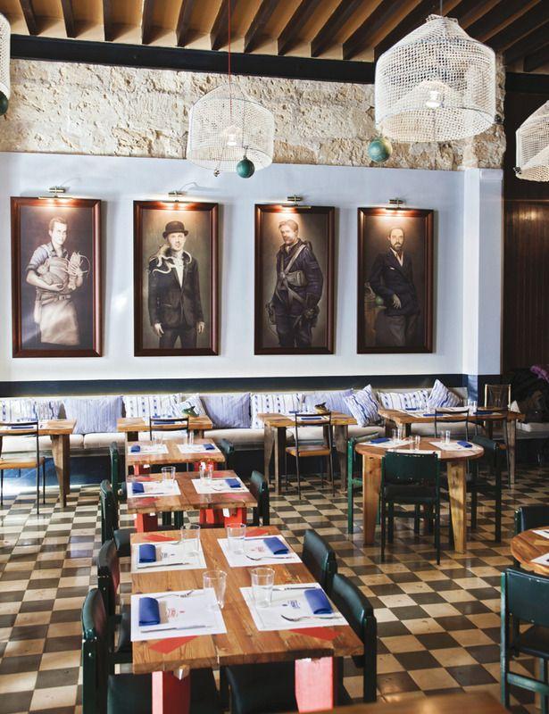 Patr n lunares restaurant at palma de mallorca Diseno de interiores palma de mallorca