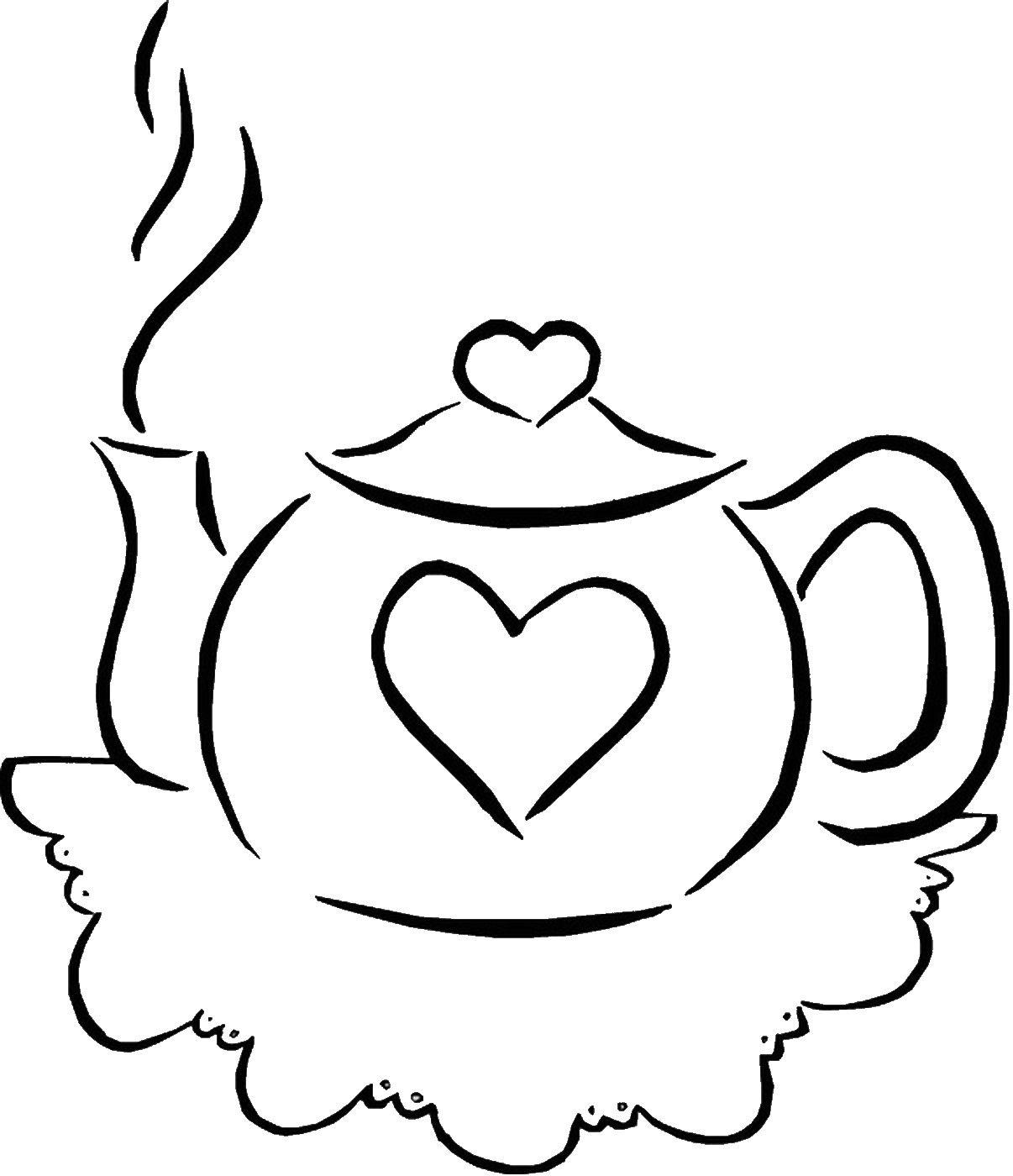 Tea Party Coloring Pages | Tea Party | Pinterest | Tea parties, Tea ...