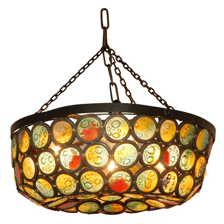 'Chunk Jewel' glass lamp   Artisinal Slag Stained Glass   Pinterest - Chunk Jewel' Glass Lamp Artisinal Slag Stained Glass Pinterest