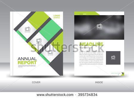 Green Annual Report TemplateBrochure FlyerCover Design Polygon