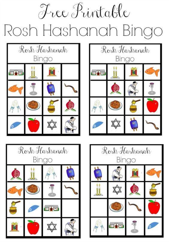 Free Printable Rosh Hashanah Bingo | Rosh Hashana. Fiesta judia. Año ...