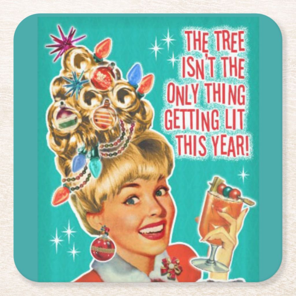 Funny Christmas Cocktail Party Drink Coasters 6 | Zazzle.com #christmasfunny