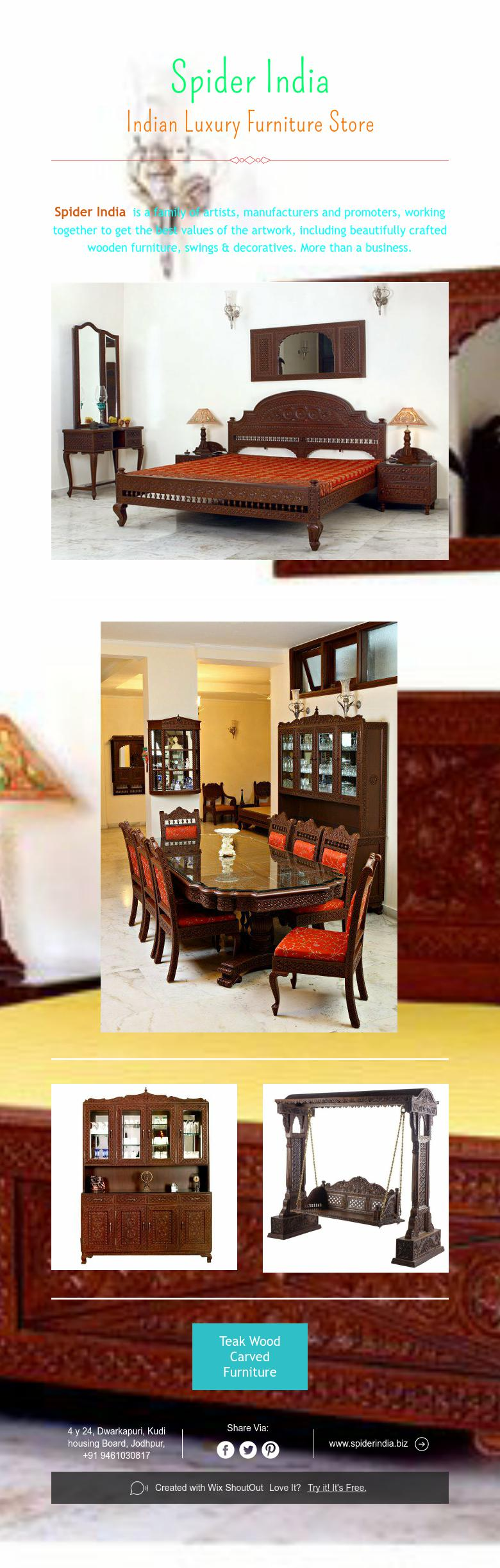 Spider India Indian Luxury Furniture Store Luxury Furniture Stores Carved Furniture Luxury Furniture