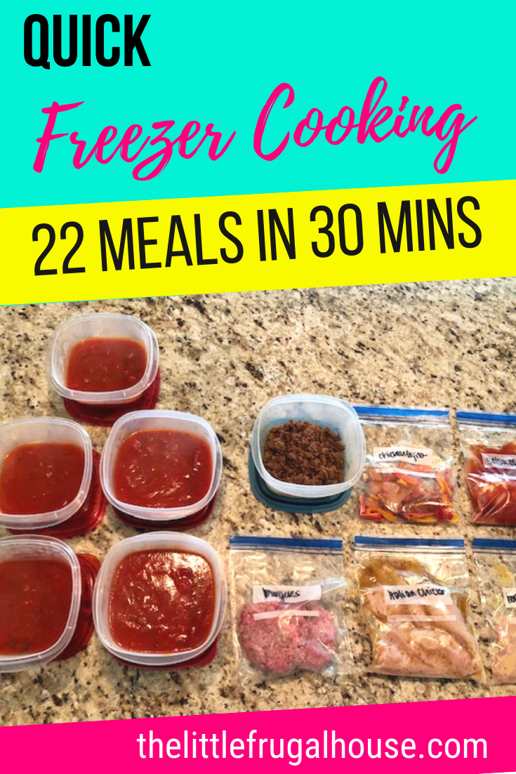 Quick Freezer Cooking Plan - 22 Meals in 30 Minutes images