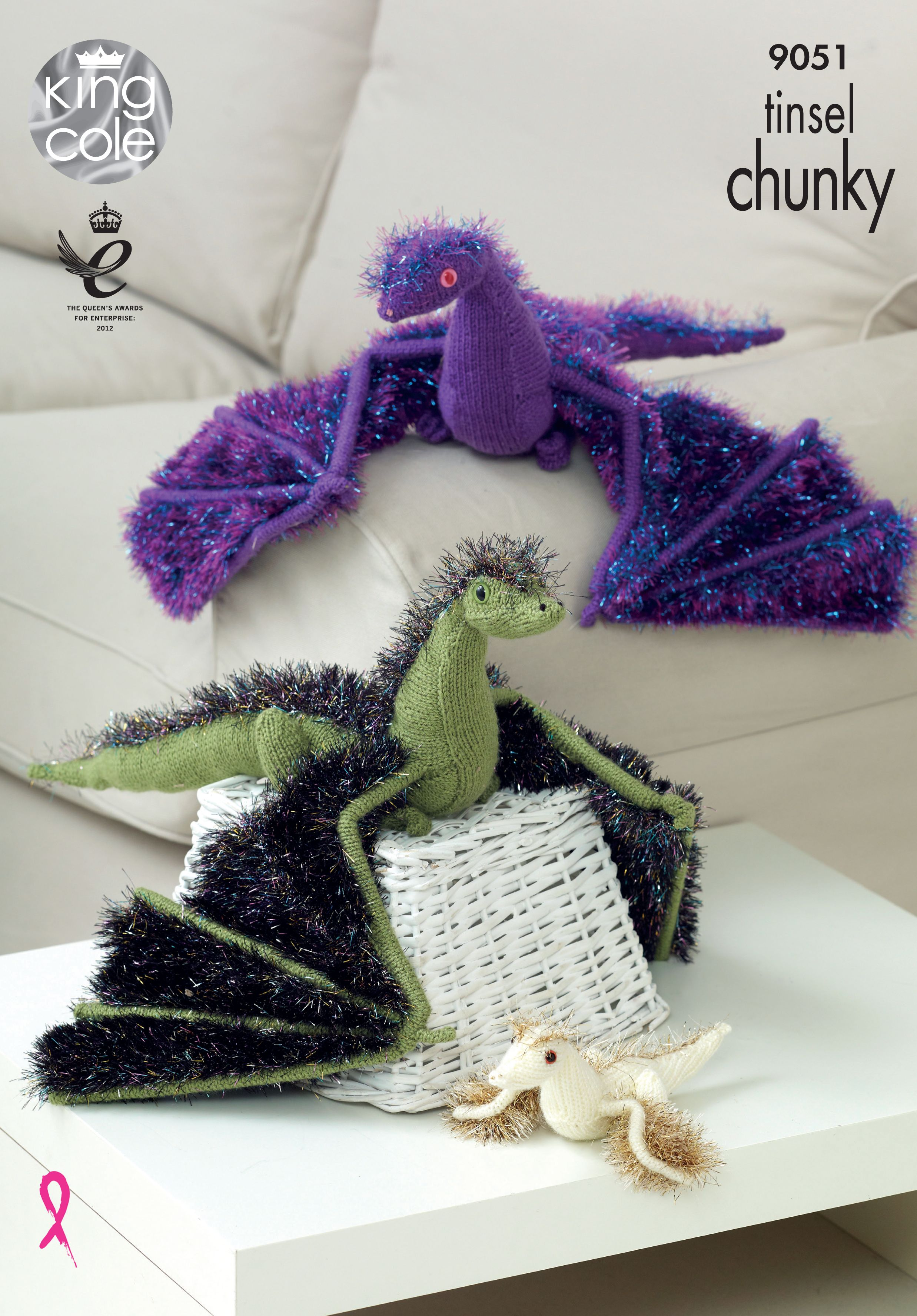Knitted Tinsel Dragons perfect knitting for all you Game of Thrones ...
