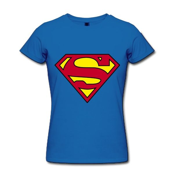 Make your own superman logo royal blue standard weight t for Create your own shirt no minimum