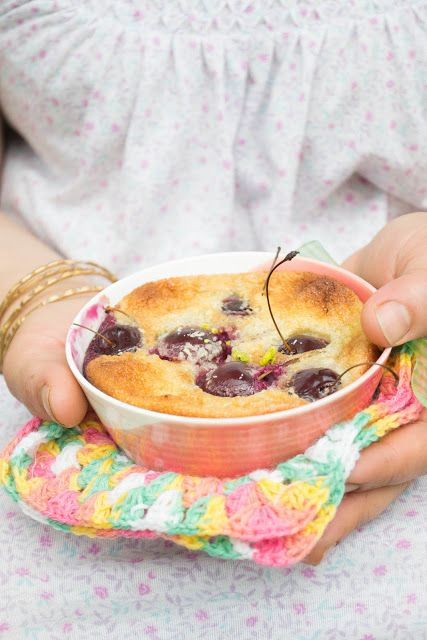 Coconut cherry clafoutis at lagallette.blogsp...