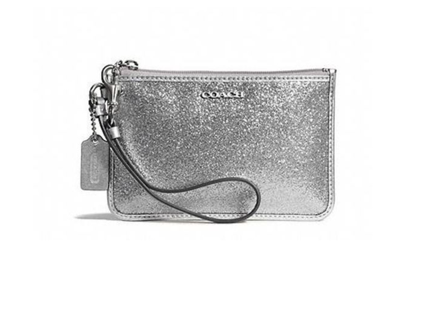 NWT Coach Legacy Glitter Gray Wristlet 50374. Starting at $1 on Tophatter.com!