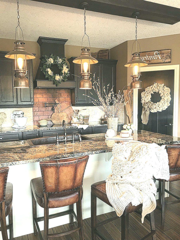 47 comfortable winter rustic kitchen ideas after christmas homewowdecor rustic kitchen on farmhouse kitchen xmas id=12393