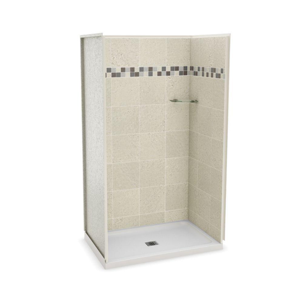 Utile 48 In Stone Sahara Alcove Shower Kit Shower Stall Corner Shower Kits