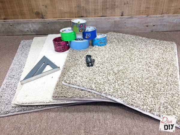 How To Make Carpet Sample Area Rug On A Budget Diy Carpet