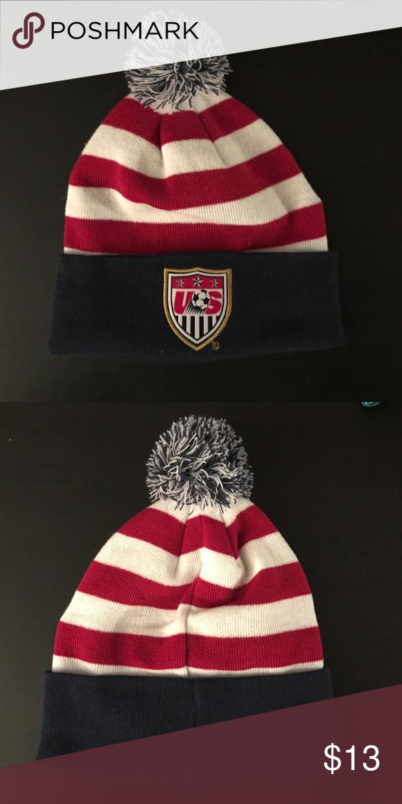 67d3d6c2f4bb5d USA Soccer winter pom hat USA Soccer Winter Pom Hat Accessories Hats ...