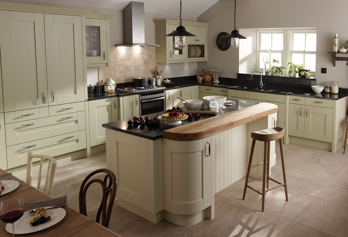 Machair Collection Country Style- Traditional cream-painted shaker ...