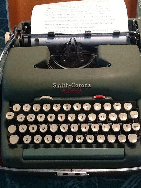 Electric typewriter essay