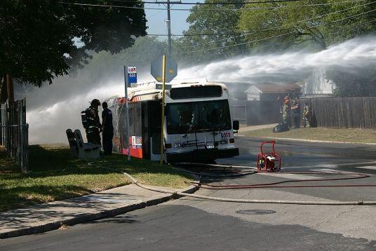 San Antonio Via Bus Fire October 2004 Photos By Tim Barlow