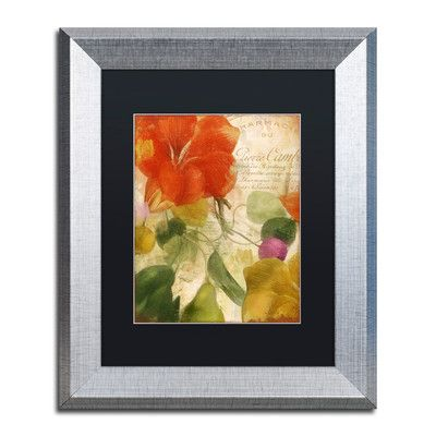 """Trademark Art 'November' by Color Bakery Framed Graphic Art Size: 14"""" H x 11"""" W x 0.5"""" D, Mat Color: Black"""