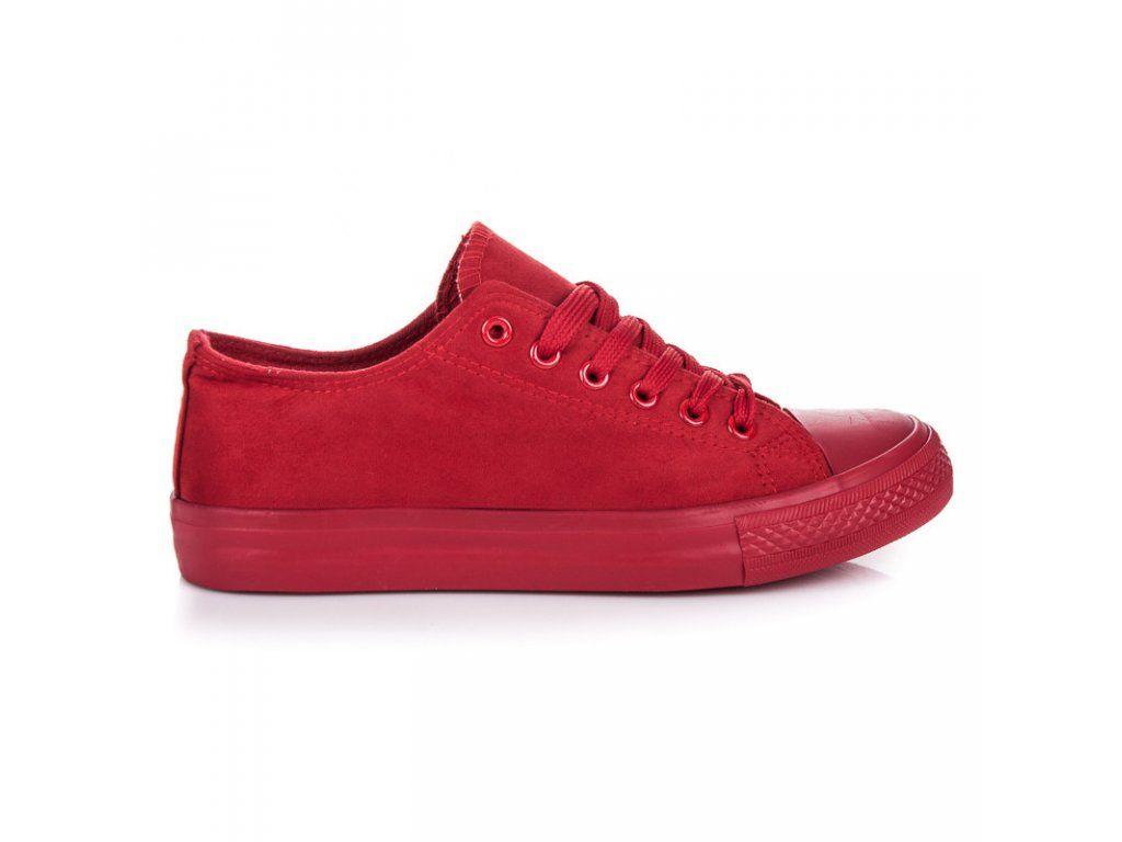 eec93daa268cc Semišové červené plátenky | Naj.sk | Plátenky - NAJ.SK | Sneakers ...