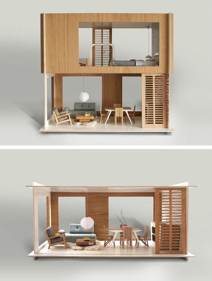 Casita De Munecas Minimalista Modern Dollhouse Barbie House