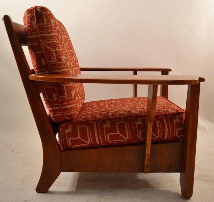 Cushman Maple Paddle Arm Lounge Chair Vintage Decorating