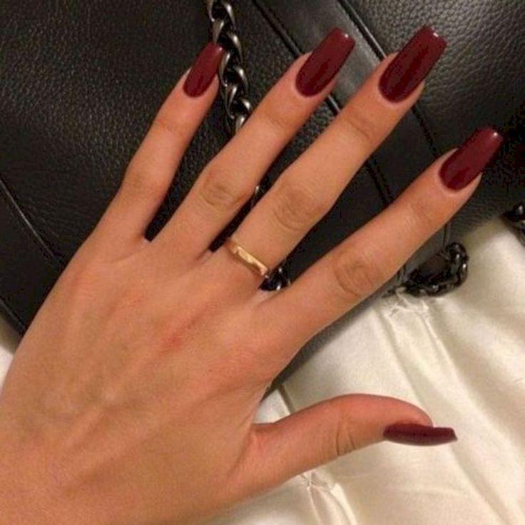 38 Chic Winter Rot Acryl Nail Designs Jetzt kopieren – Nagel Kunst